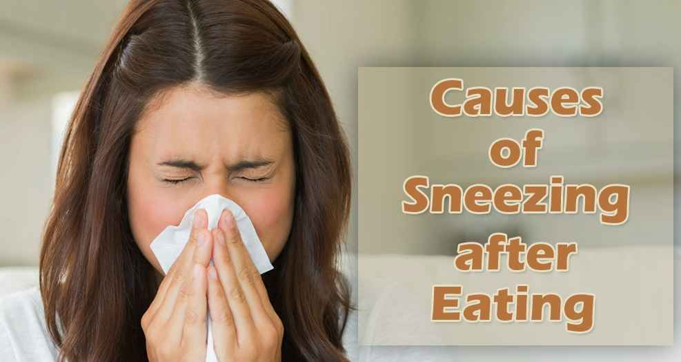 what are the reasons for sneezing after eating